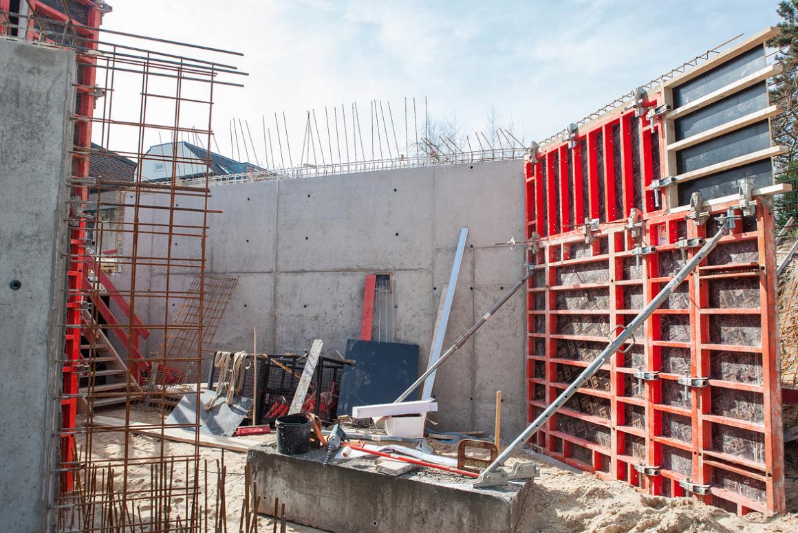 Baustelle Fischeln Volksbank